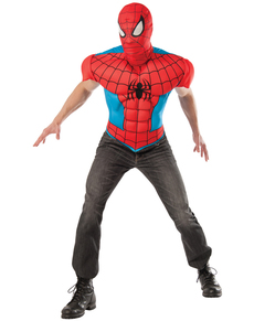 Men's Deluxe Spiderman Costume Kit